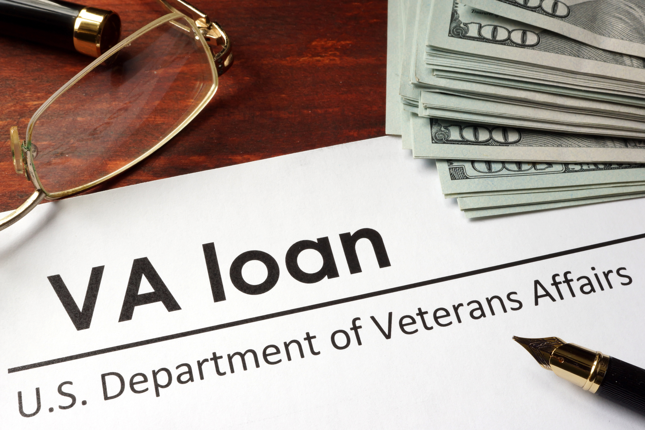 Cash and VA loan form from the U.S. Department of Veterans Affairs