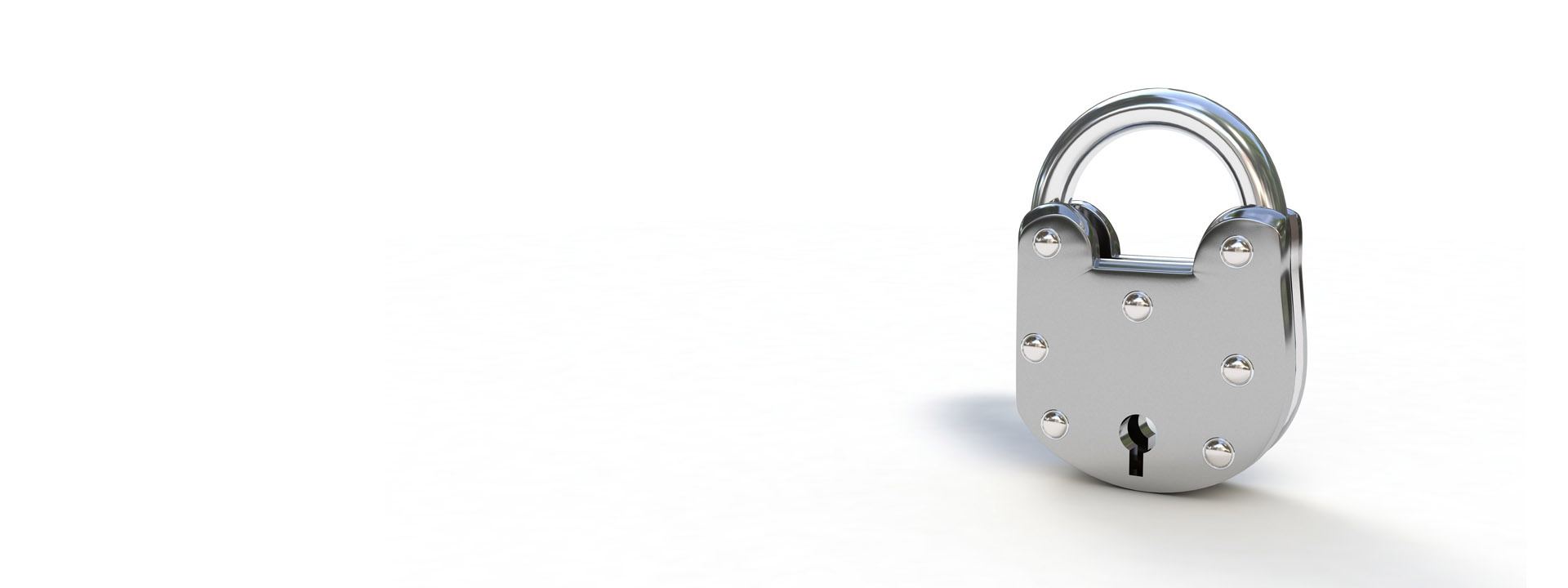 metal lock on white background